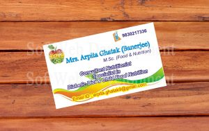 softweb development technologies portfolios for Mrs. Arpita Ghatak Visiting Card