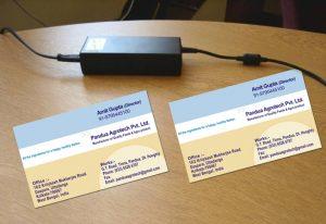 softweb development technologies portfolios for Amit Gupta Visiting Card