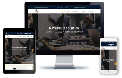 Matheus IT Solution, this website develop by SoftWeb Development Technologies