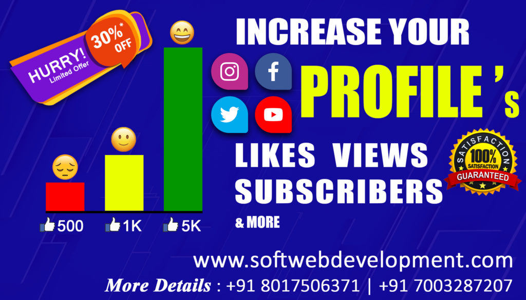 Increase Your Social Media Likes, Comments, Views, Subscribers